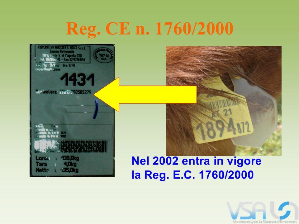 Nel 2002 entra in vigore la Reg. E.C. 1760/2000 Reg. CE n. 1760/2000