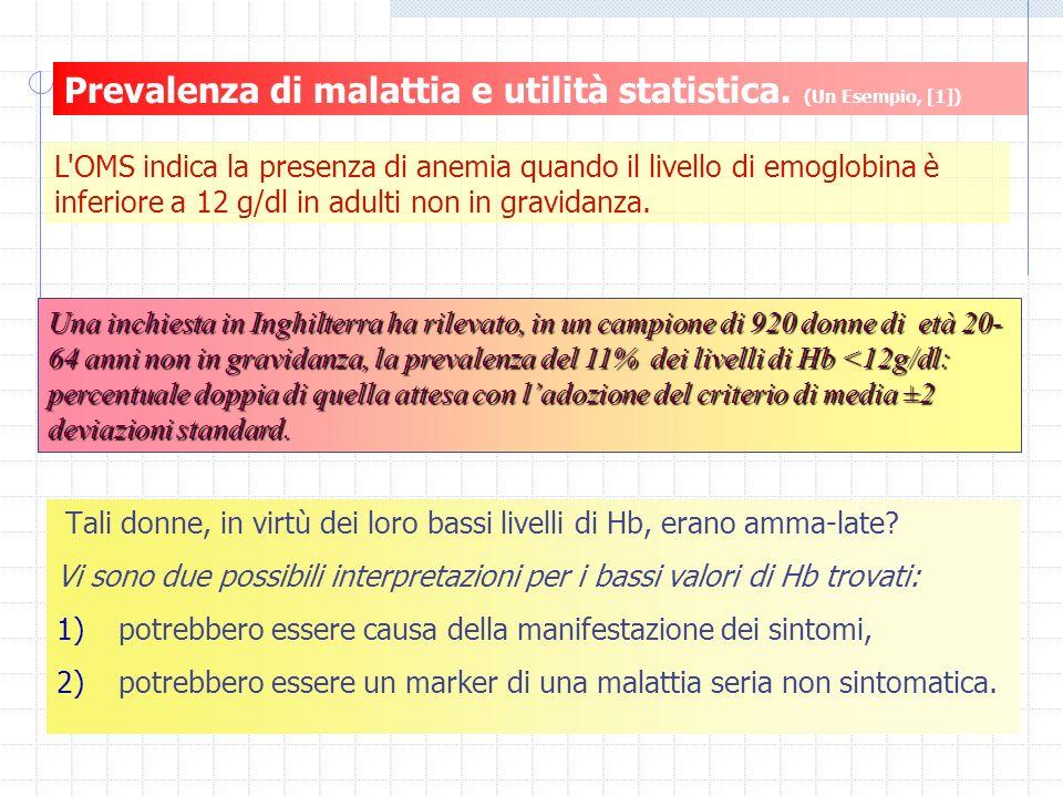 Prevalenza di malattia e utilità statistica.