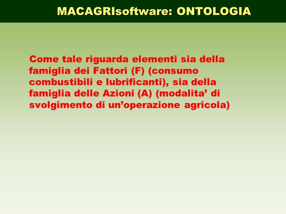 Come tale riguarda elementi sia della famiglia dei Fattori (F) (consumo combustibili e lubrificanti), sia della famiglia delle Azioni (A) (modalita di