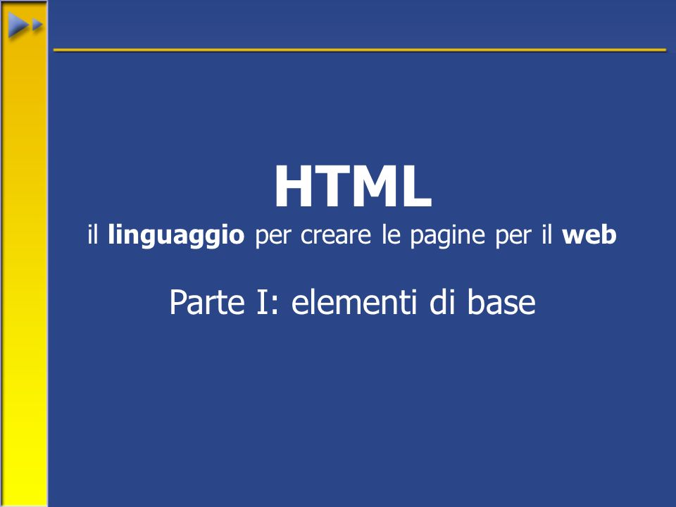 32 Prova di documento Titolo importante Titolo meno importante Hello world hello world hello world hello world Hello world hello world hello world hello world HTML: esempio