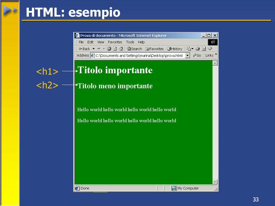 33 HTML: esempio