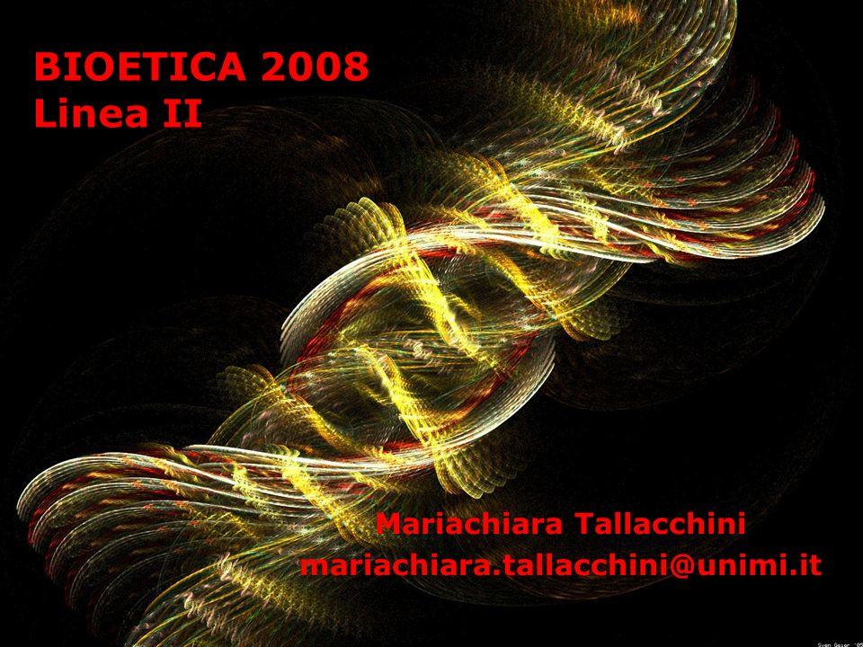 Anni 90-00: genetica e clonazione 1990 - Progetto Genoma Umano (HUGO) 28 marzo 1990 – Viene istituito il CNB (Bompiani, Ossicini, DAgostino, Berlinguer, Casavola) 21 febbraio 1997 – A Edimburgo nei laboratori di Ian Wilmut, nasce Dolly (1997-2003), la prima pecora clonata (scattano le moratorie sulla clonazione) 1997 – scattano in tutto il mondo i divieti di clonazione (Italia Ordinanza Bindi 1997-2001) Maggio 1998 – La deCode Genetics ottiene lesclusiva per lo studio e lo sfruttamento industriale del patrimonio genetico degli Islandesi 1998 – LUnione Europea approva la Direttiva 44/98 sulla brevettabilita delle biotecnologie (in Italia 2004) 6 aprile 2000 – Craig Venter (Celera Genomics) rivela di aver sequenziato il genoma umano