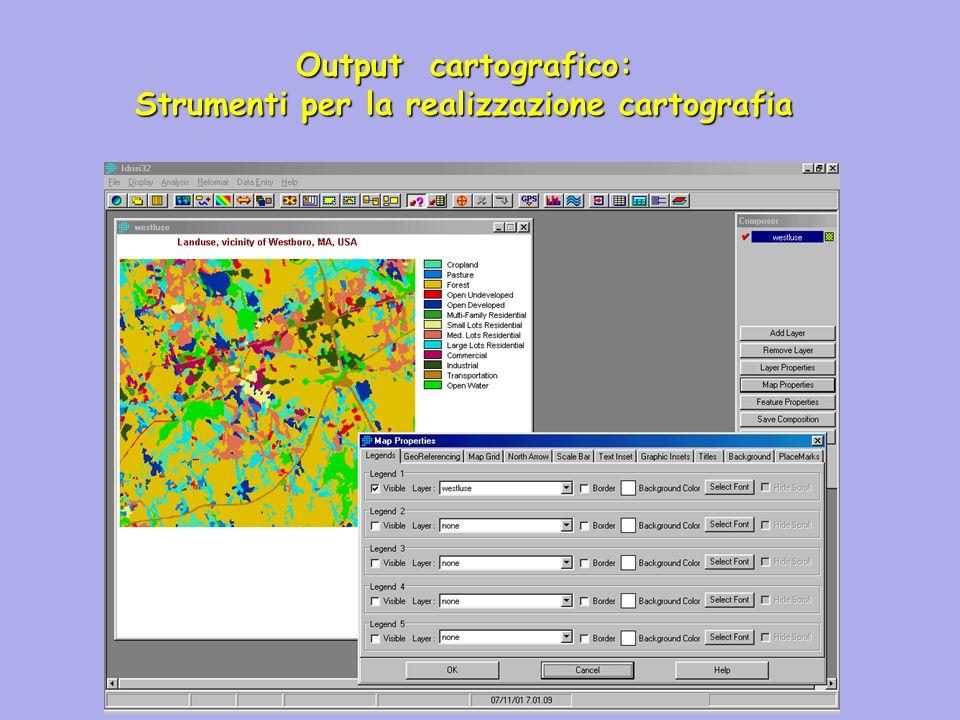 Output cartografico: Strumenti per la realizzazione cartografia