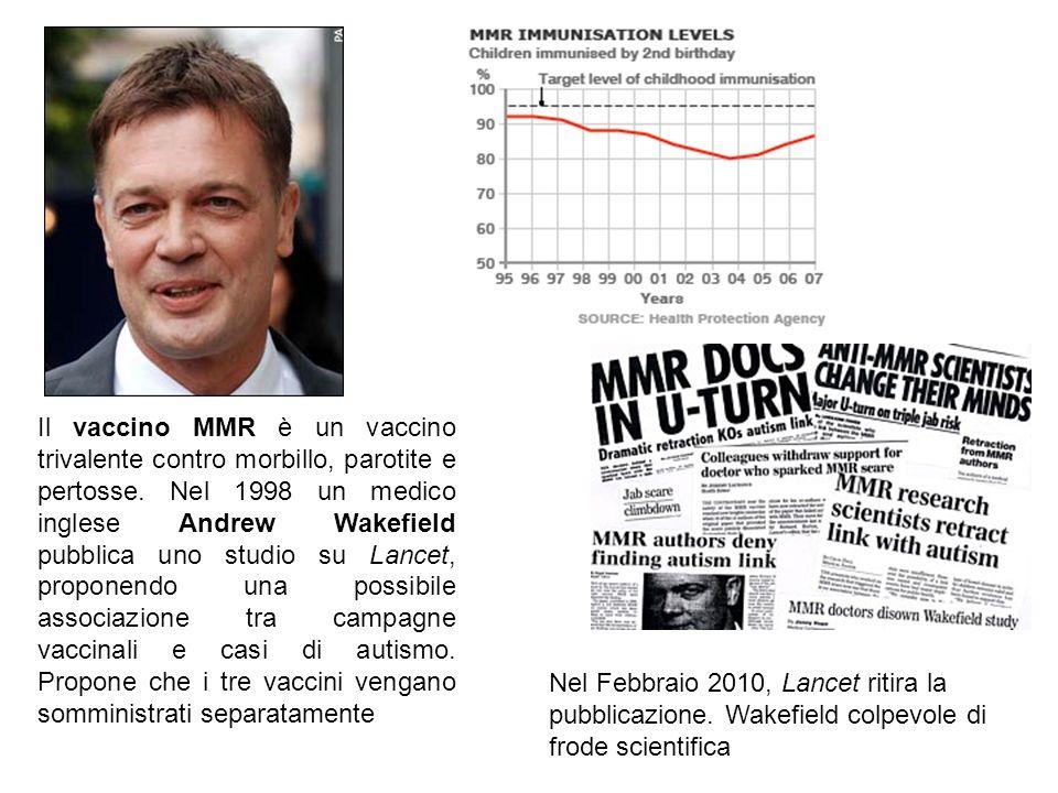 Il vaccino MMR è un vaccino trivalente contro morbillo, parotite e pertosse. Nel 1998 un medico inglese Andrew Wakefield pubblica uno studio su Lancet