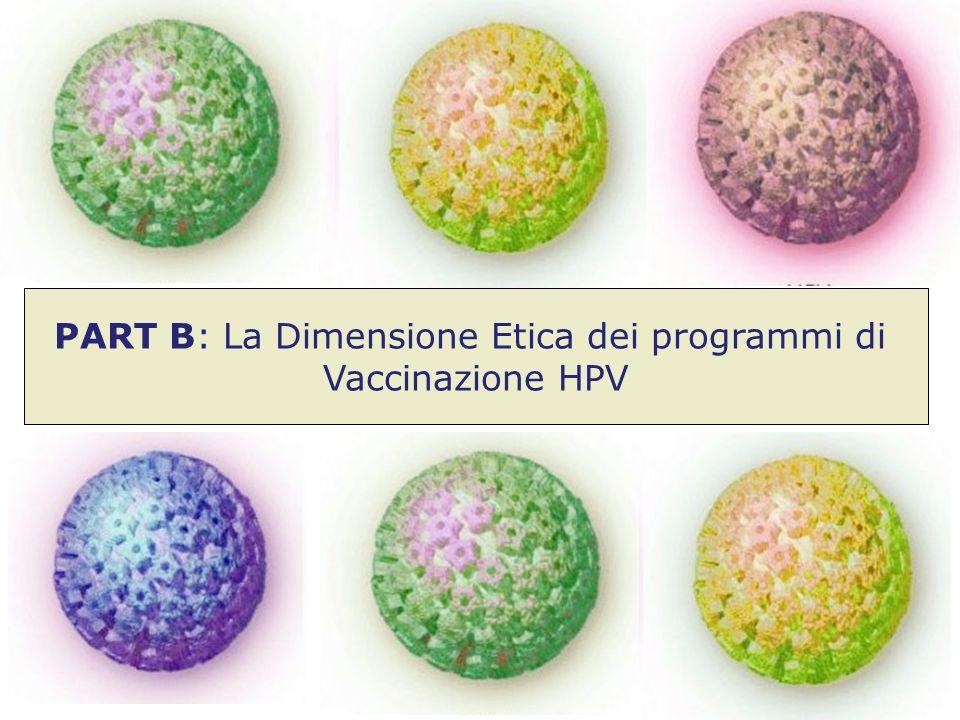 PART B: La Dimensione Etica dei programmi di Vaccinazione HPV