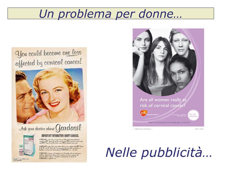 Un problema per donne… Nelle pubblicità…