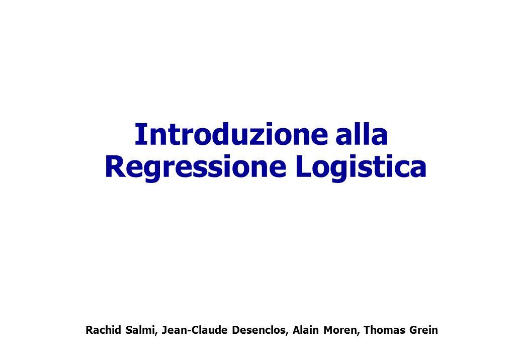 Contenuto regressione lineare semplice e multipla regressione logistica lineare semplice –La funzione logistica –Stima dei parametri –Interpretazione dei coefficienti Regressione logistica Multipla –Interpretazione dei coefficienti –Codifica delle variabili Esempi in Stata Modellare i propri dati