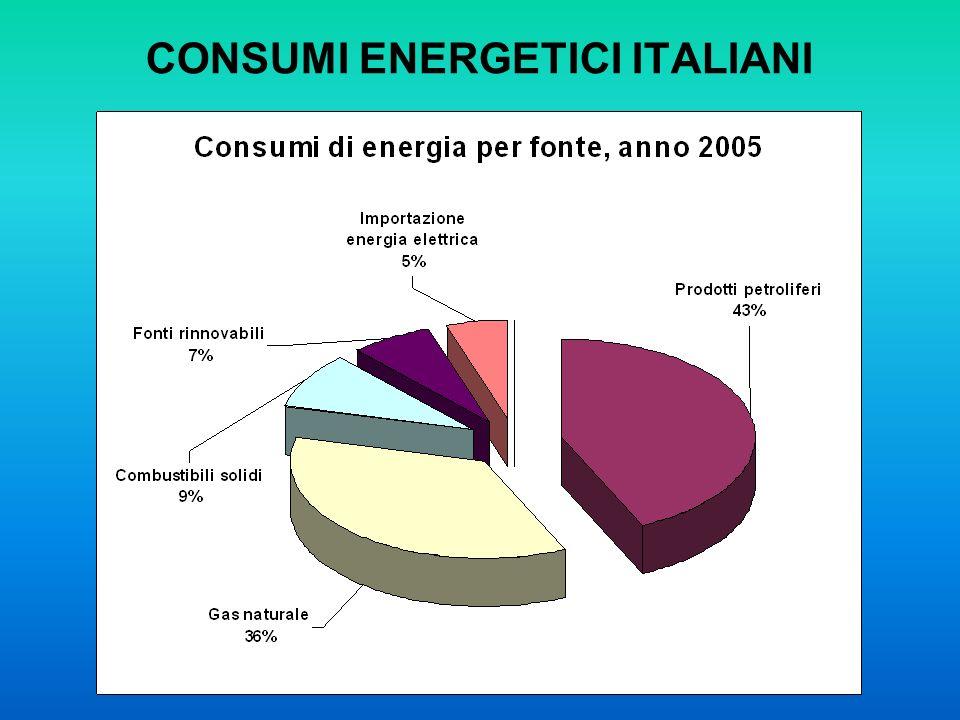 CONSUMI ENERGETICI ITALIANI