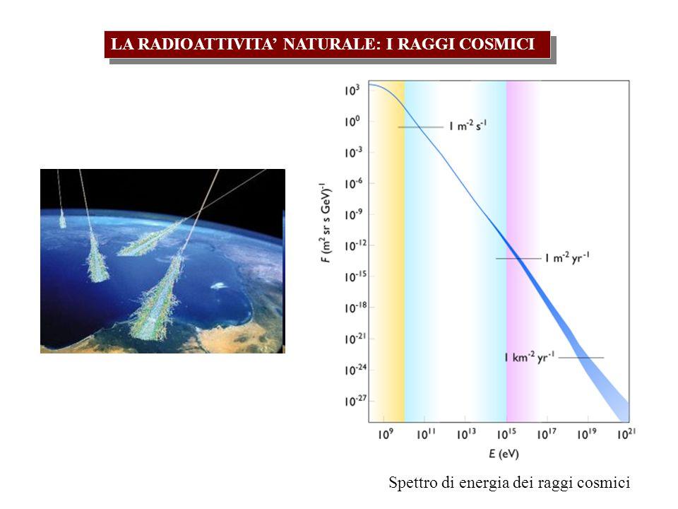 I raggi cosmici, interagendo con gli elementi costituenti latmosfera terrestre, generano degli isotopi radioattivi.