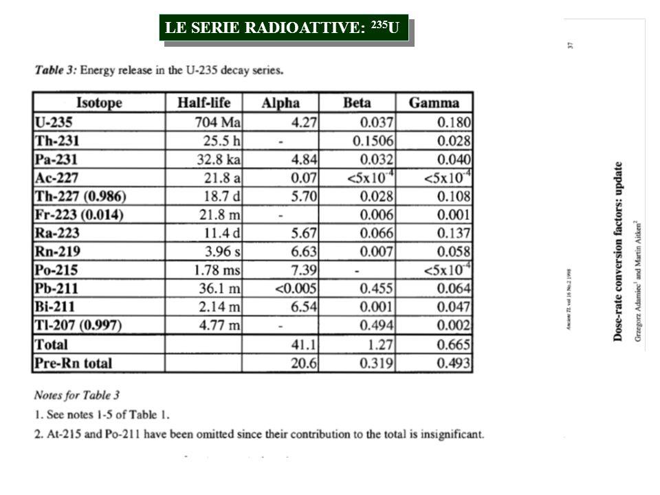 Consideriamo il caso generale di un radionuclide X 1 che decade formando un altro radionuclide X 2, che a sua volta decade formando un terzo nuclide X 3, etc.