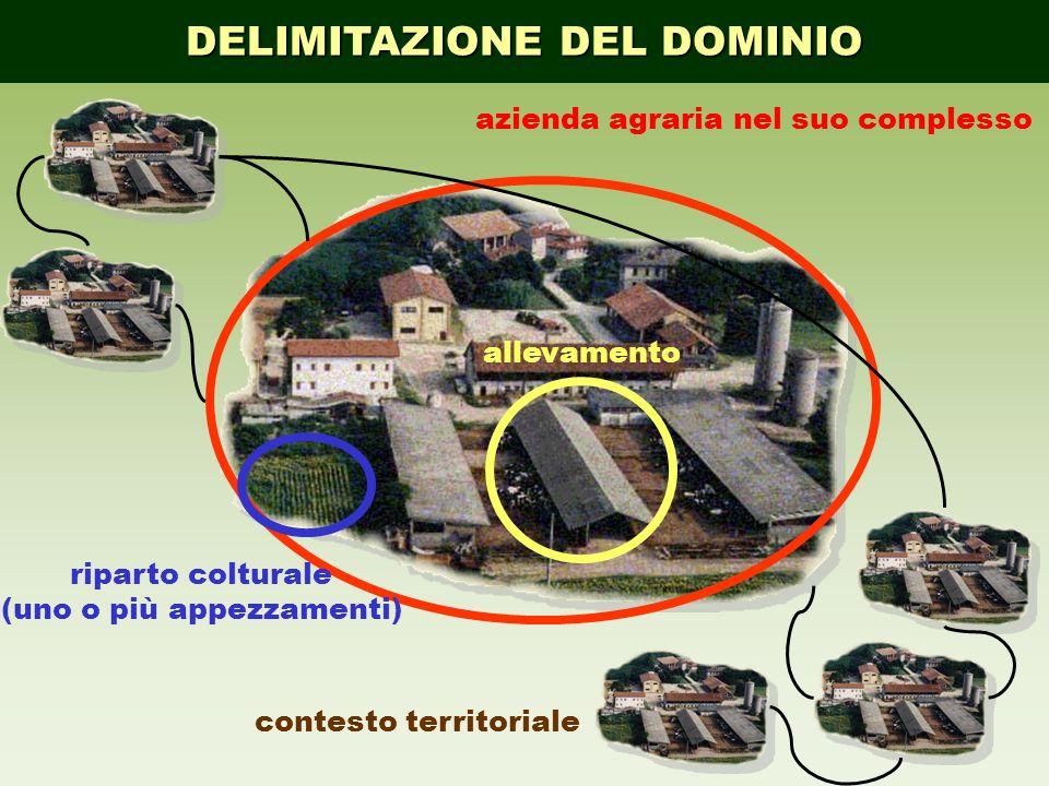 azienda agraria nel suo complesso riparto colturale (uno o più appezzamenti) allevamento contesto territoriale