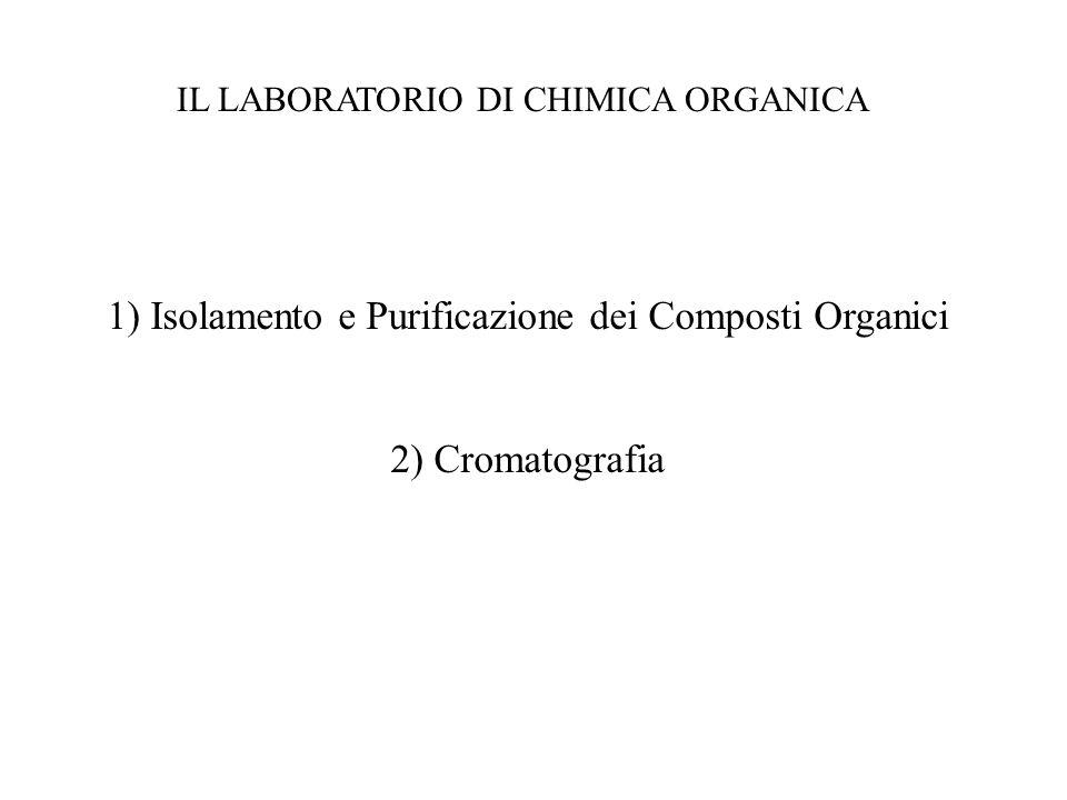 IL LABORATORIO DI CHIMICA ORGANICA 1) Isolamento e Purificazione dei Composti Organici 2) Cromatografia