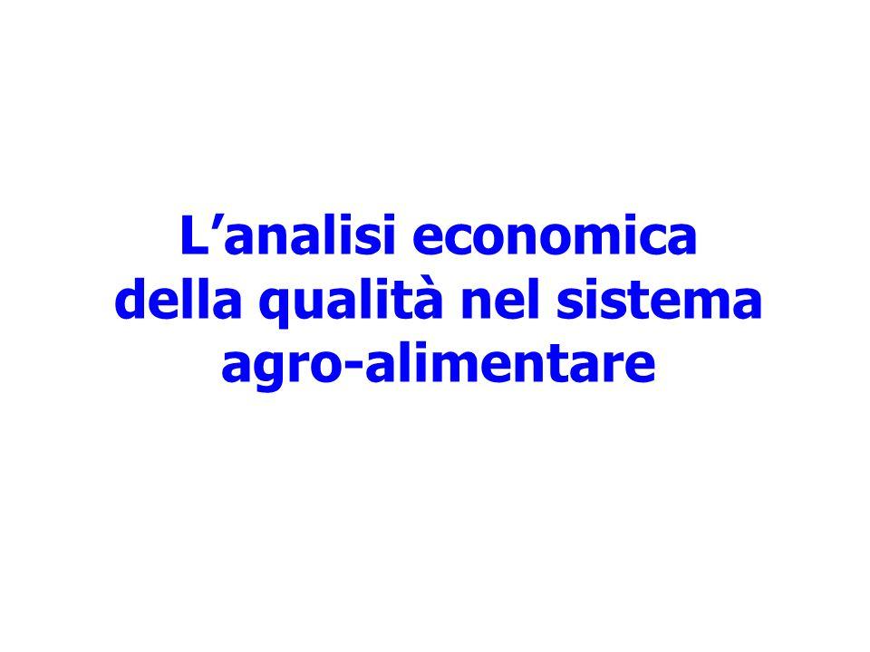 Lanalisi economica della qualità nel sistema agro-alimentare
