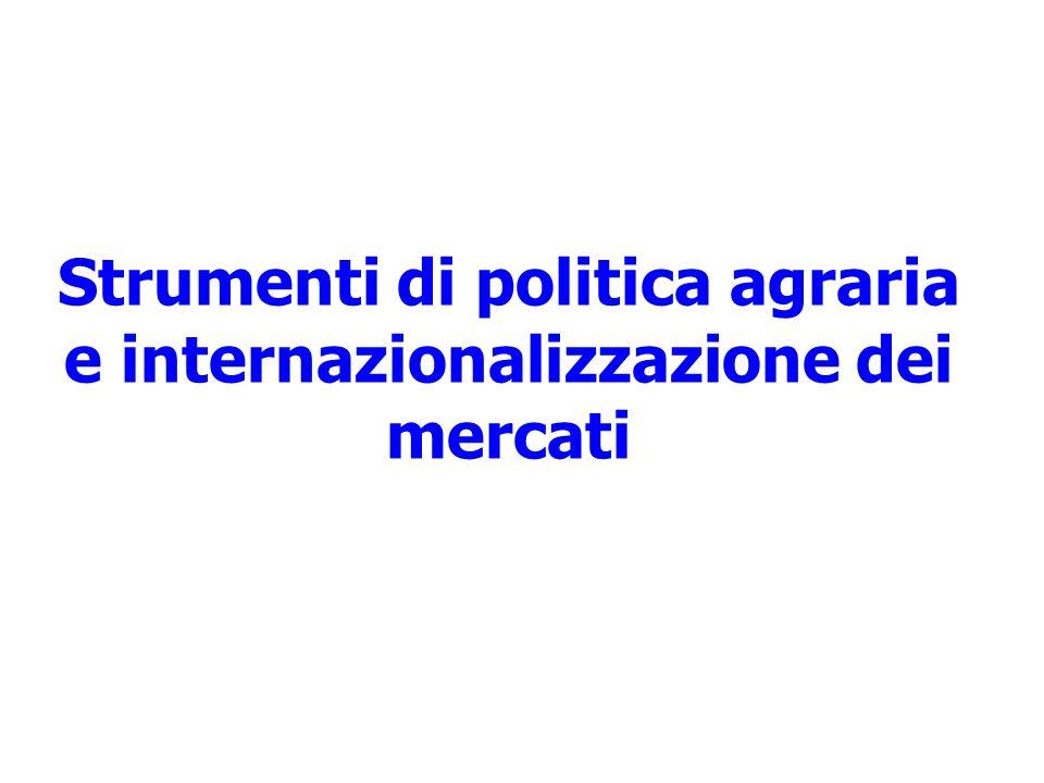 Strumenti di politica agraria e internazionalizzazione dei mercati