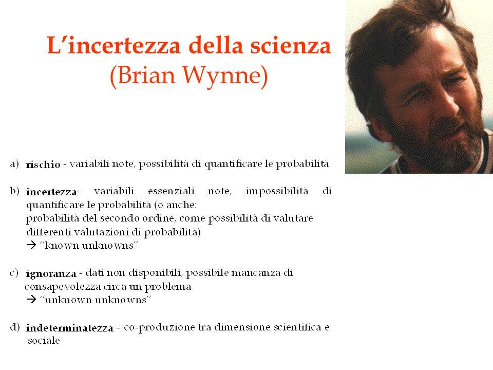 Lincertezza della scienza (Brian Wynne)