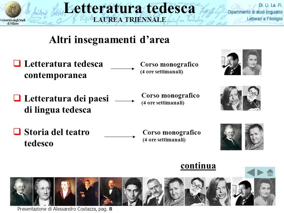 Lingua tedesca LAUREA MAGISTRALE Presentazione di Alessandro Costazza, pag.
