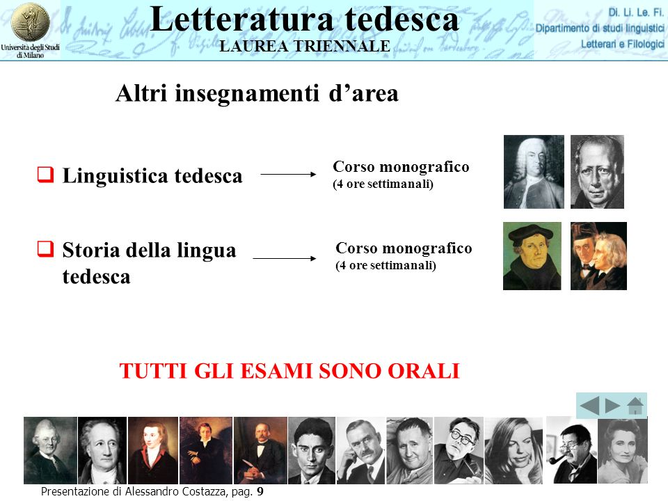Presentazione di Alessandro Costazza, pag.
