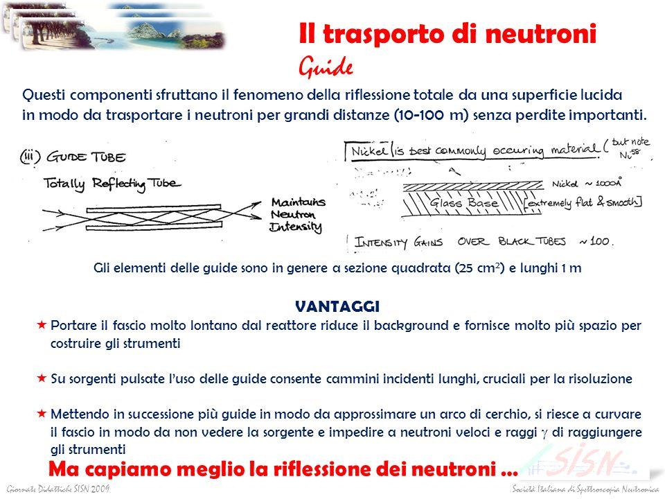Società Italiana di Spettroscopia NeutronicaGiornate Didattiche SISN 2009 Il trasporto di neutroni Guide Questi componenti sfruttano il fenomeno della