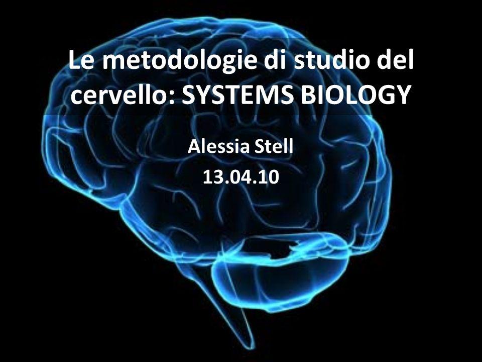 Le metodologie di studio del cervello: SYSTEMS BIOLOGY Alessia Stell 13.04.10