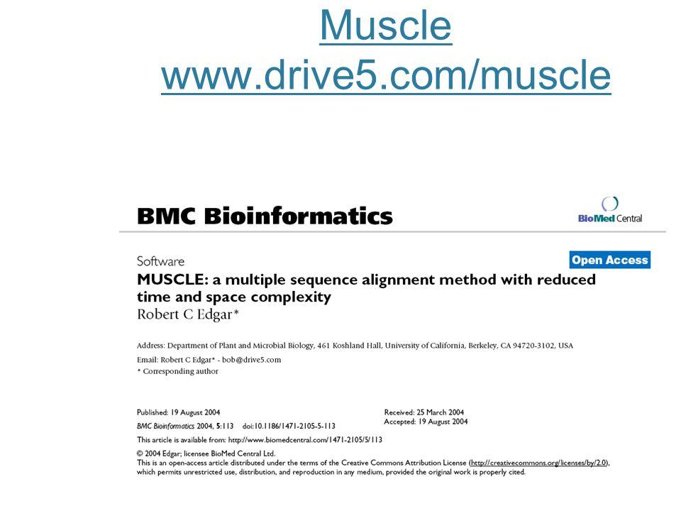 Muscle www.drive5.com/muscle