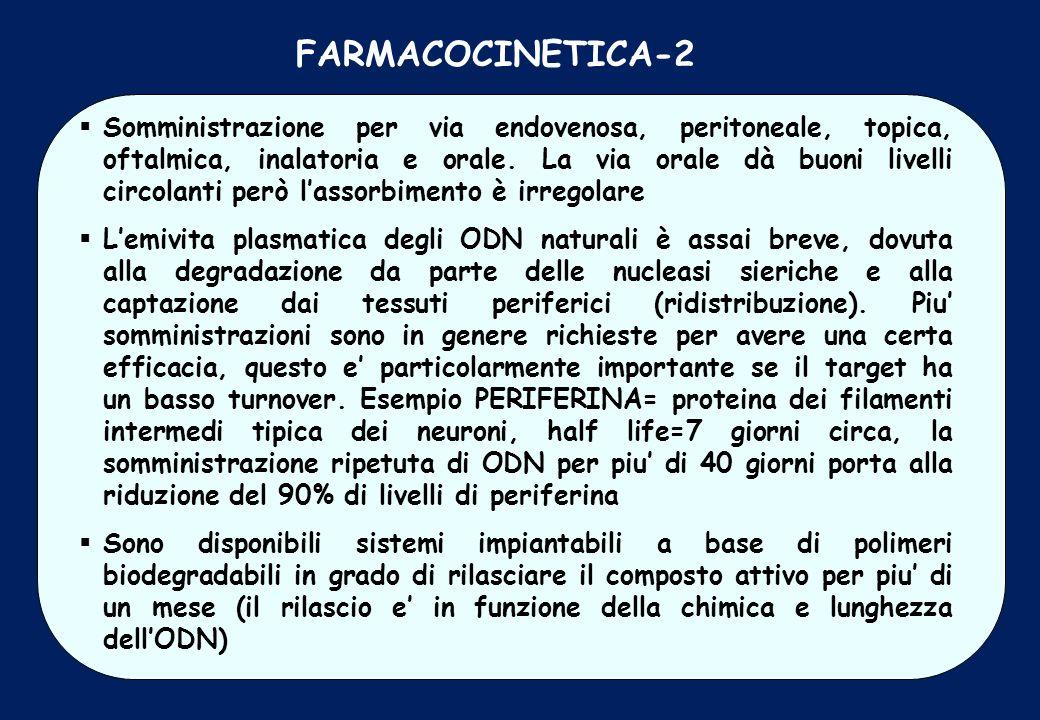 FARMACOCINETICA-2 Somministrazione per via endovenosa, peritoneale, topica, oftalmica, inalatoria e orale. La via orale dà buoni livelli circolanti pe