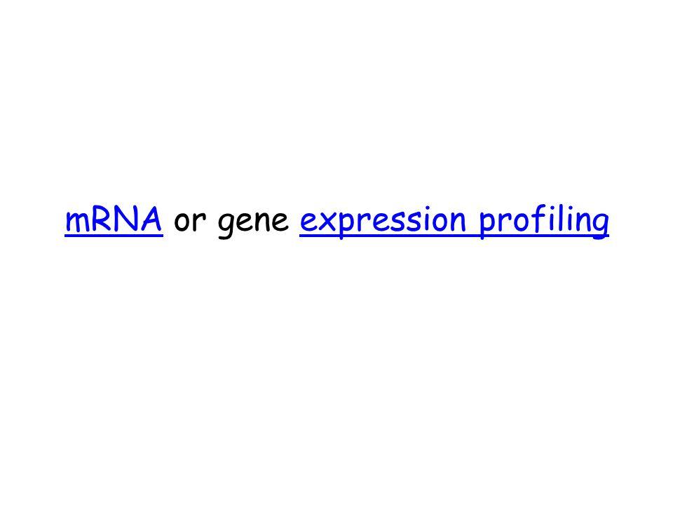 mRNAmRNA or gene expression profilingexpression profiling