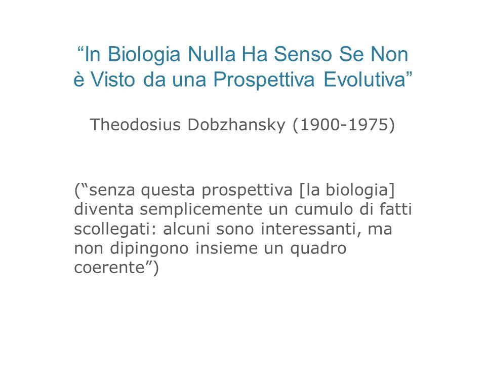 In Biologia Nulla Ha Senso Se Non è Visto da una Prospettiva Evolutiva Theodosius Dobzhansky (1900-1975) (senza questa prospettiva [la biologia] diven