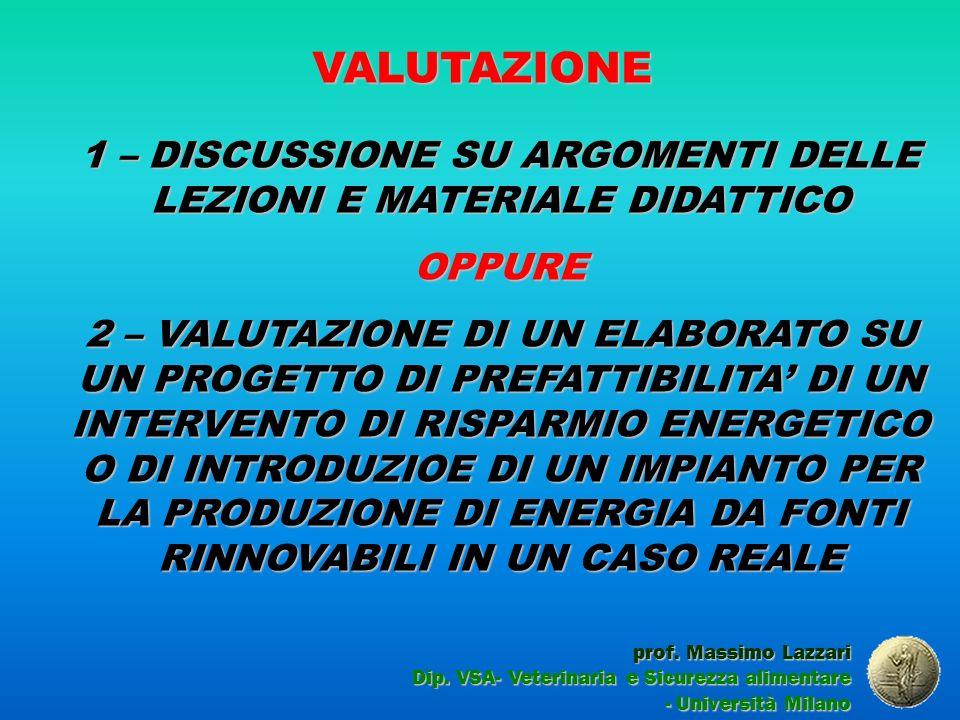 VALUTAZIONE prof.Massimo Lazzari Dip.