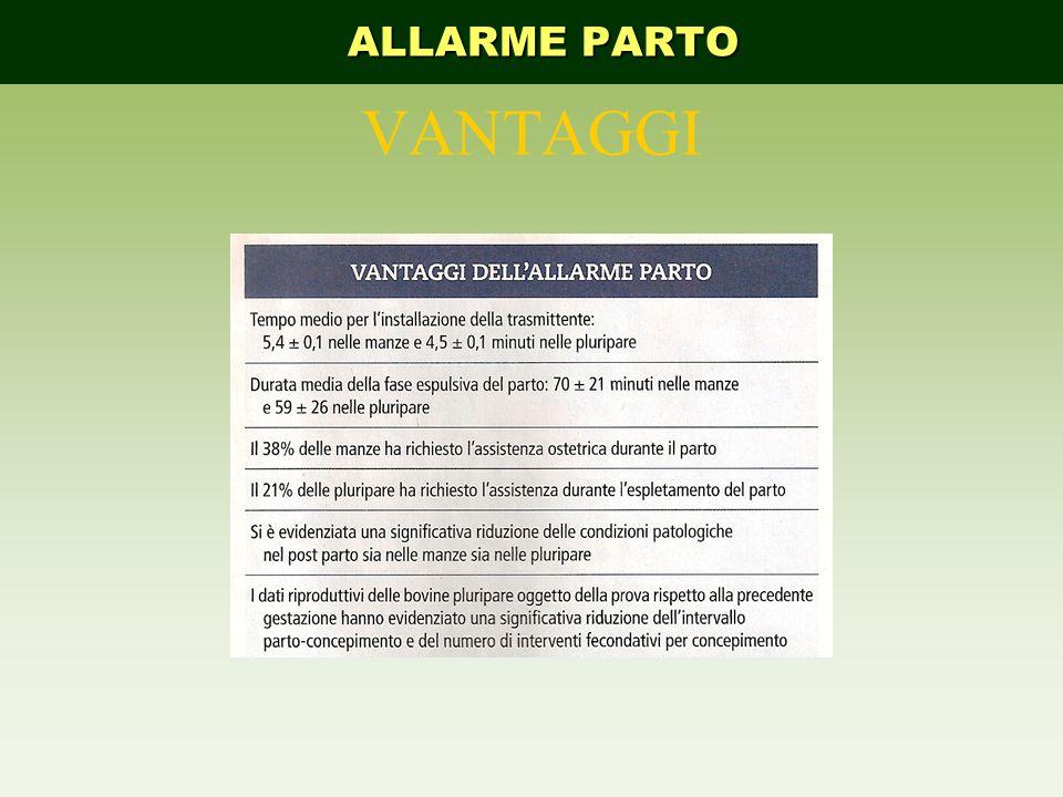 VANTAGGI ALLARME PARTO