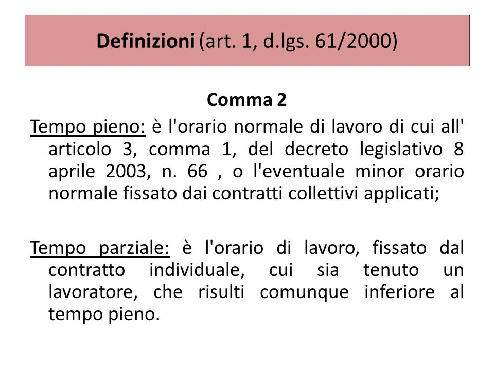 Definizioni (art.1, d.lgs.