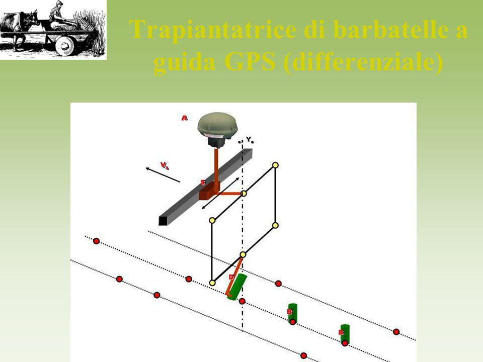 Trapiantatrice di barbatelle a guida GPS (differenziale)