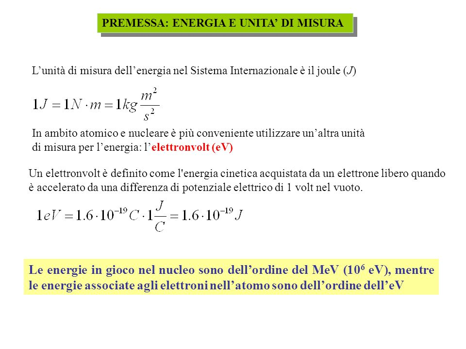 TIPI DI DECADIMENTO RADIOATTIVO - ALFA La differenza di massa (energia) riappare sotto forma di energia cinetica della particella alfa e del nucleo figlio rinculante.