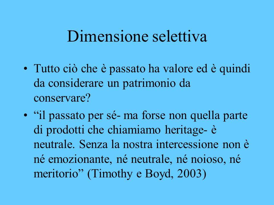 Che cosè lo heritage? Ciò che abbiamo ereditato dal passato (Herbert, 1997) patrimonio è la traduzione italiana più frequente Un eredità ricevuta dal