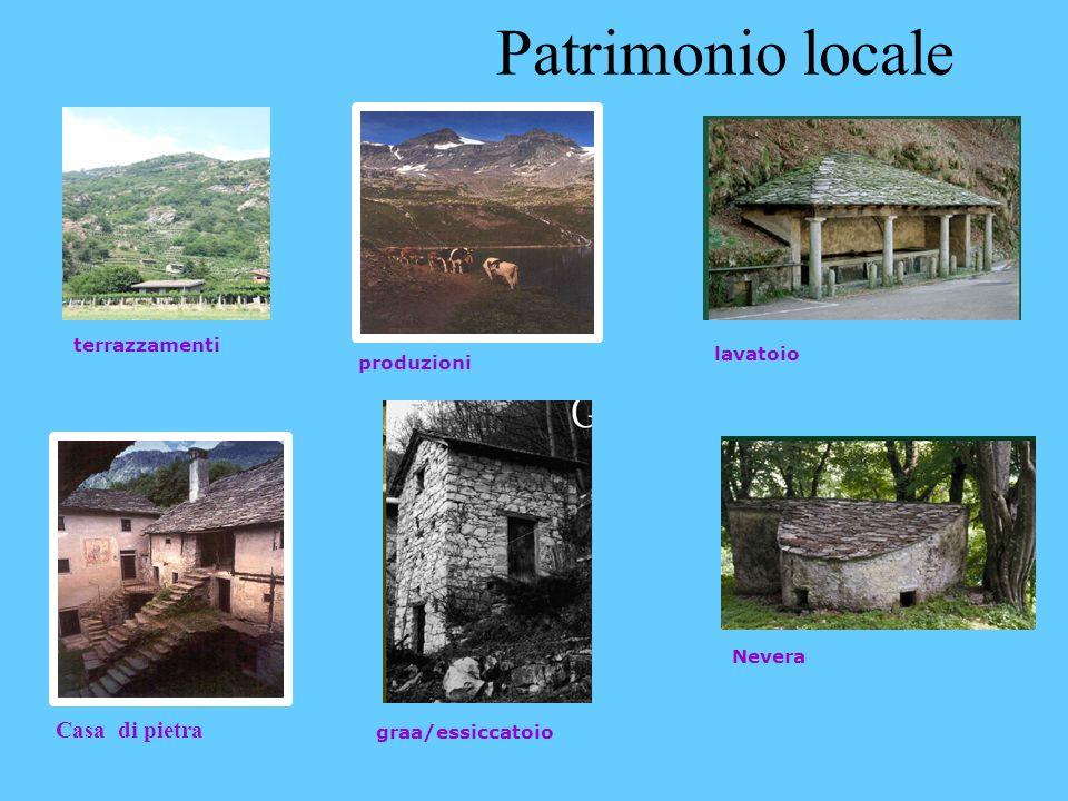 Casa di pietra graa/essiccatoio Nevera lavatoio produzioni terrazzamenti Patrimonio locale