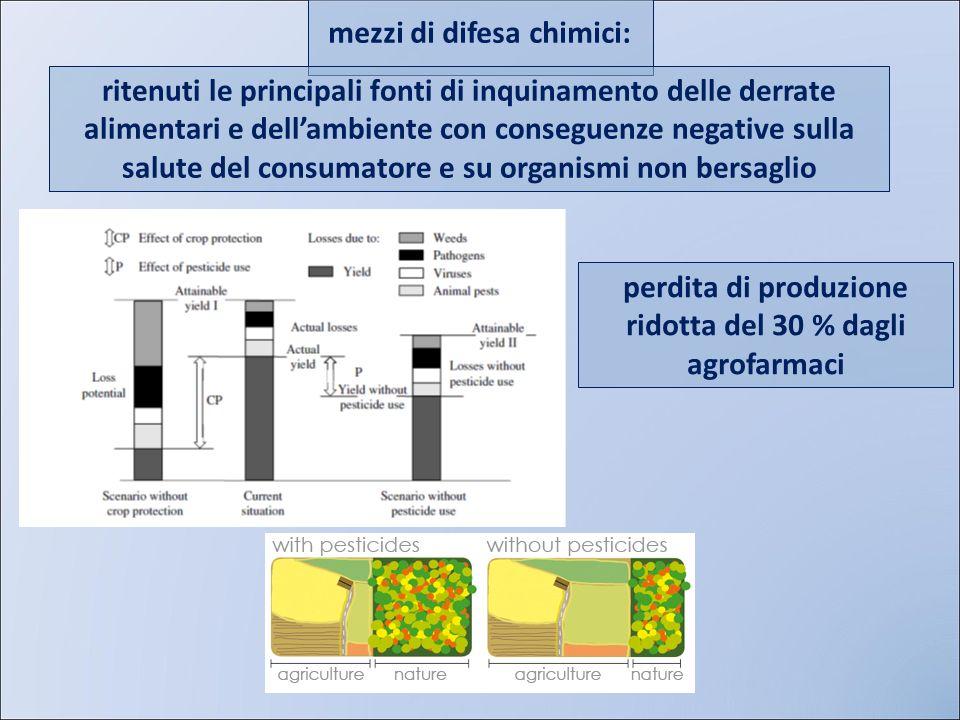 mezzi di difesa chimici: ritenuti le principali fonti di inquinamento delle derrate alimentari e dellambiente con conseguenze negative sulla salute de