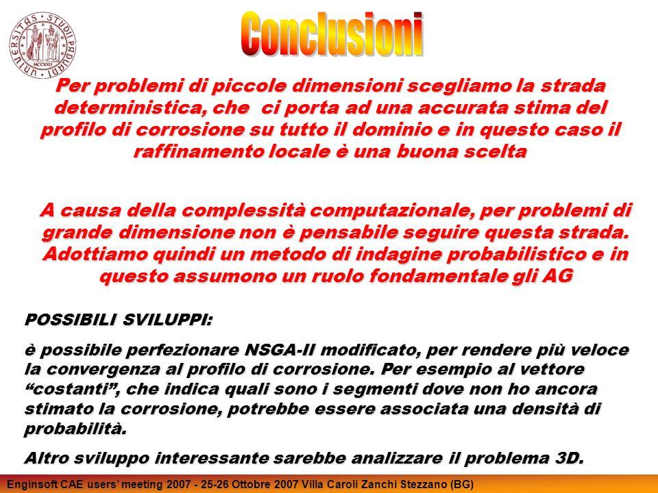 Enginsoft CAE users meeting 2007 - 25-26 Ottobre 2007 Villa Caroli Zanchi Stezzano (BG) Per problemi di piccole dimensioni scegliamo la strada determi