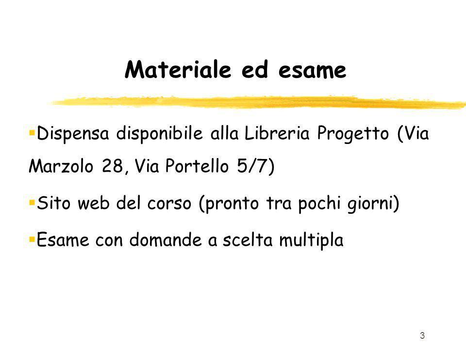 34 Ricevimento e sito corso www.math.unip.it/~frossi/info-base.html Orario di ricevimento: Mercoledi 16:30- 18:30 nel mio studio (o in unaula)