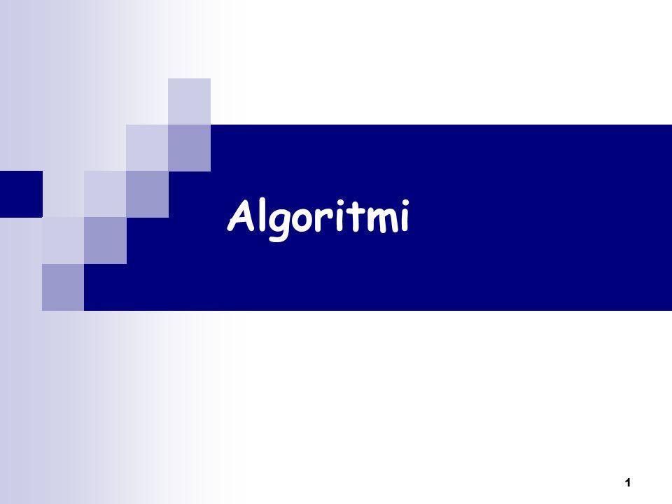 2 Definizione di algoritmo Metodo per risolvere un problema Sequenza ordinata di passi Passi eseguibili Es.: elencare tutti i numeri reali Passi non ambigui Deve terminare