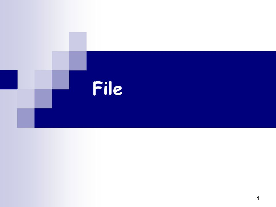 1 File