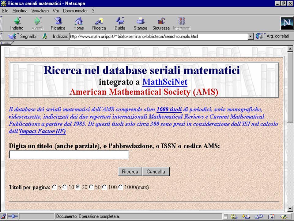 Consorzio MathSciNet 2000, Antonella De Robbio