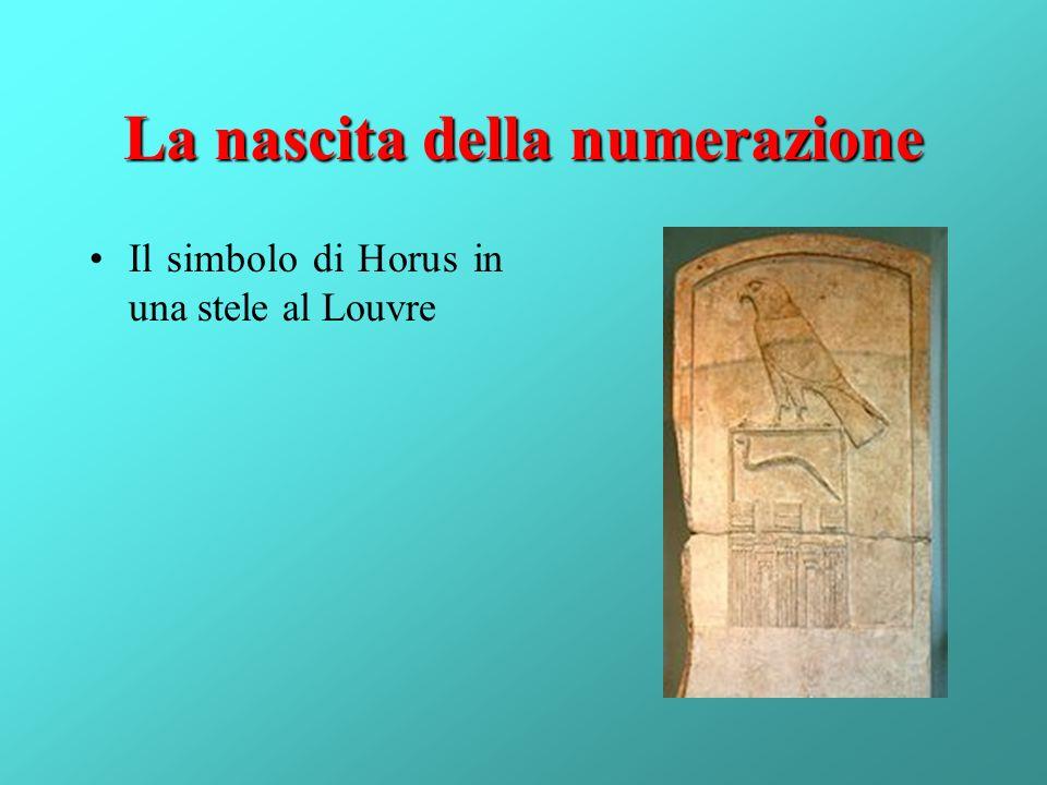 La nascita della numerazione Il simbolo di Horus in una stele al Louvre