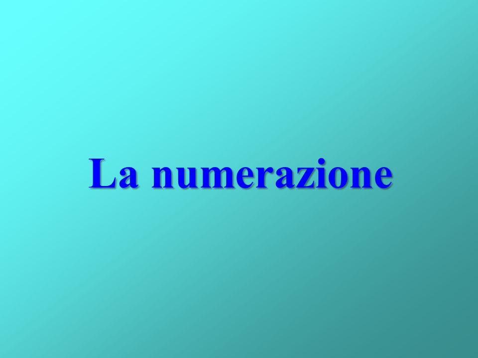 La numerazione