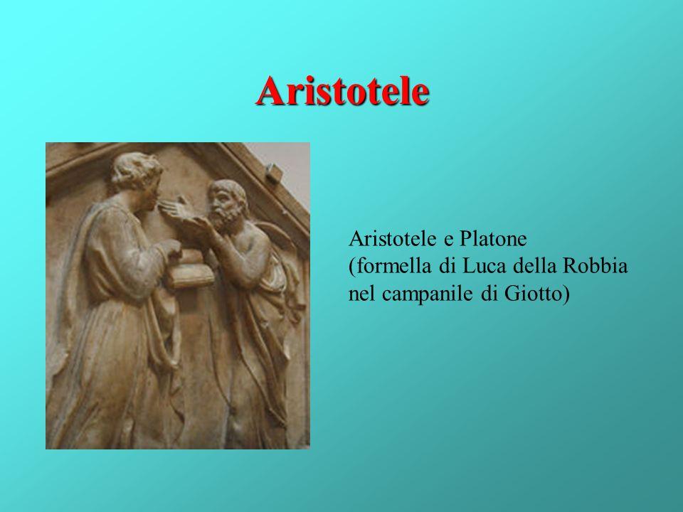 Aristotele Aristotele e Platone (formella di Luca della Robbia nel campanile di Giotto)