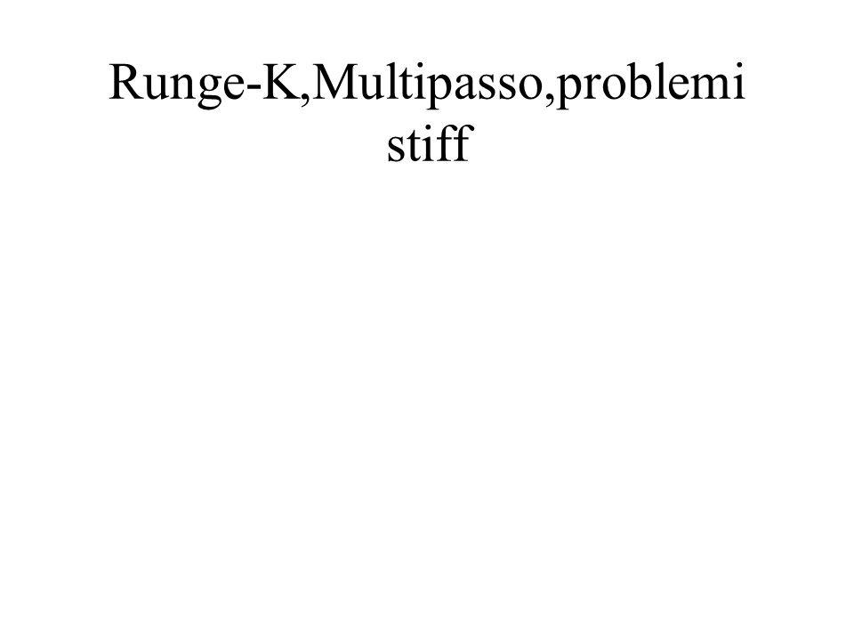 Runge-K,Multipasso,problemi stiff