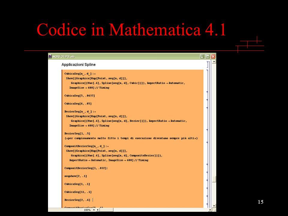 15 Codice in Mathematica 4.1