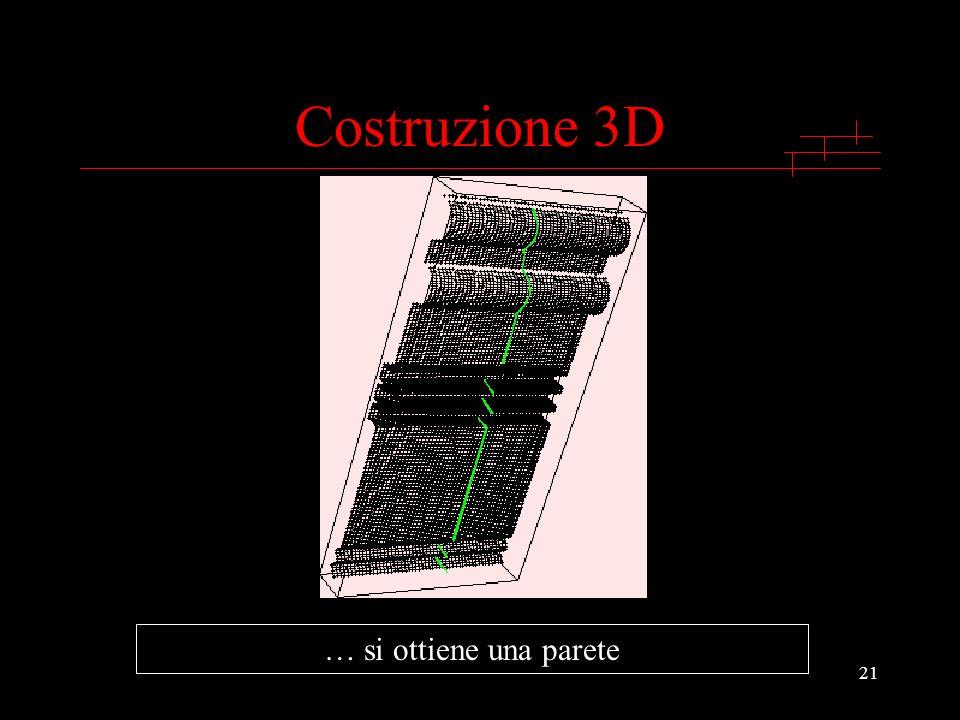 21 … si ottiene una parete Costruzione 3D