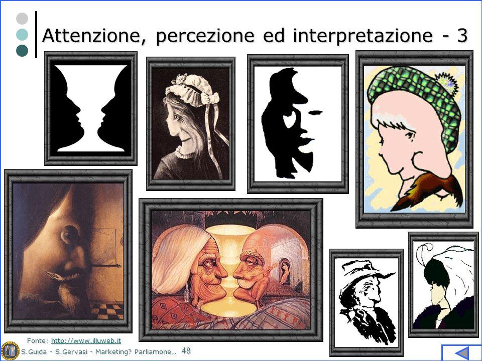 S.Guida - S.Gervasi - Marketing? Parliamone… 48 Attenzione, percezione ed interpretazione - 3 Fonte: http://www.illuweb.it http://www.illuweb.it
