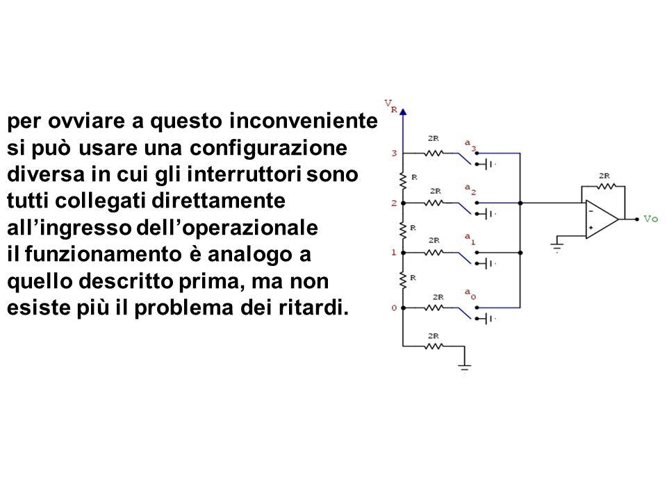 per ovviare a questo inconveniente si può usare una configurazione diversa in cui gli interruttori sono tutti collegati direttamente allingresso dello