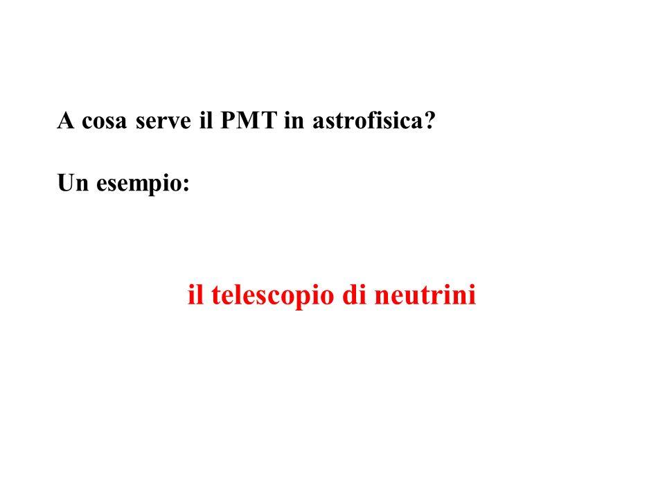 A cosa serve il PMT in astrofisica Un esempio: il telescopio di neutrini