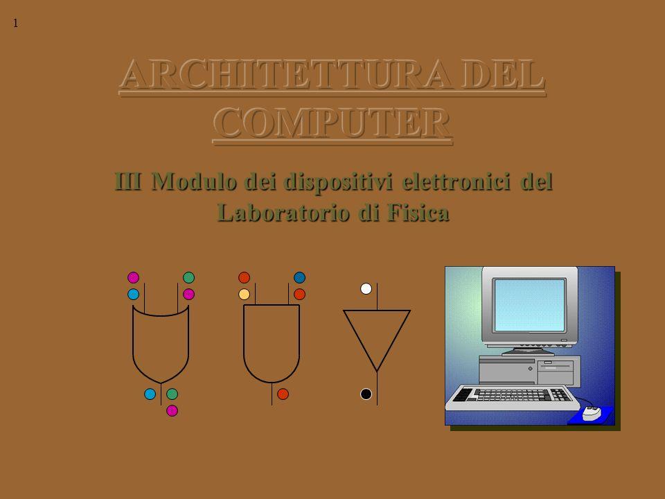 1 III Modulo dei dispositivi elettronici del Laboratorio di Fisica